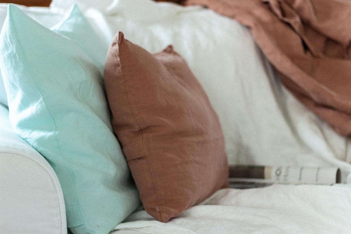 Home-Textilien aus Leinen