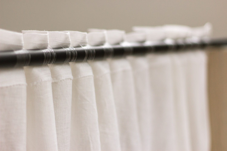 Leinenvorhang für Gardinenstange oder Schiene