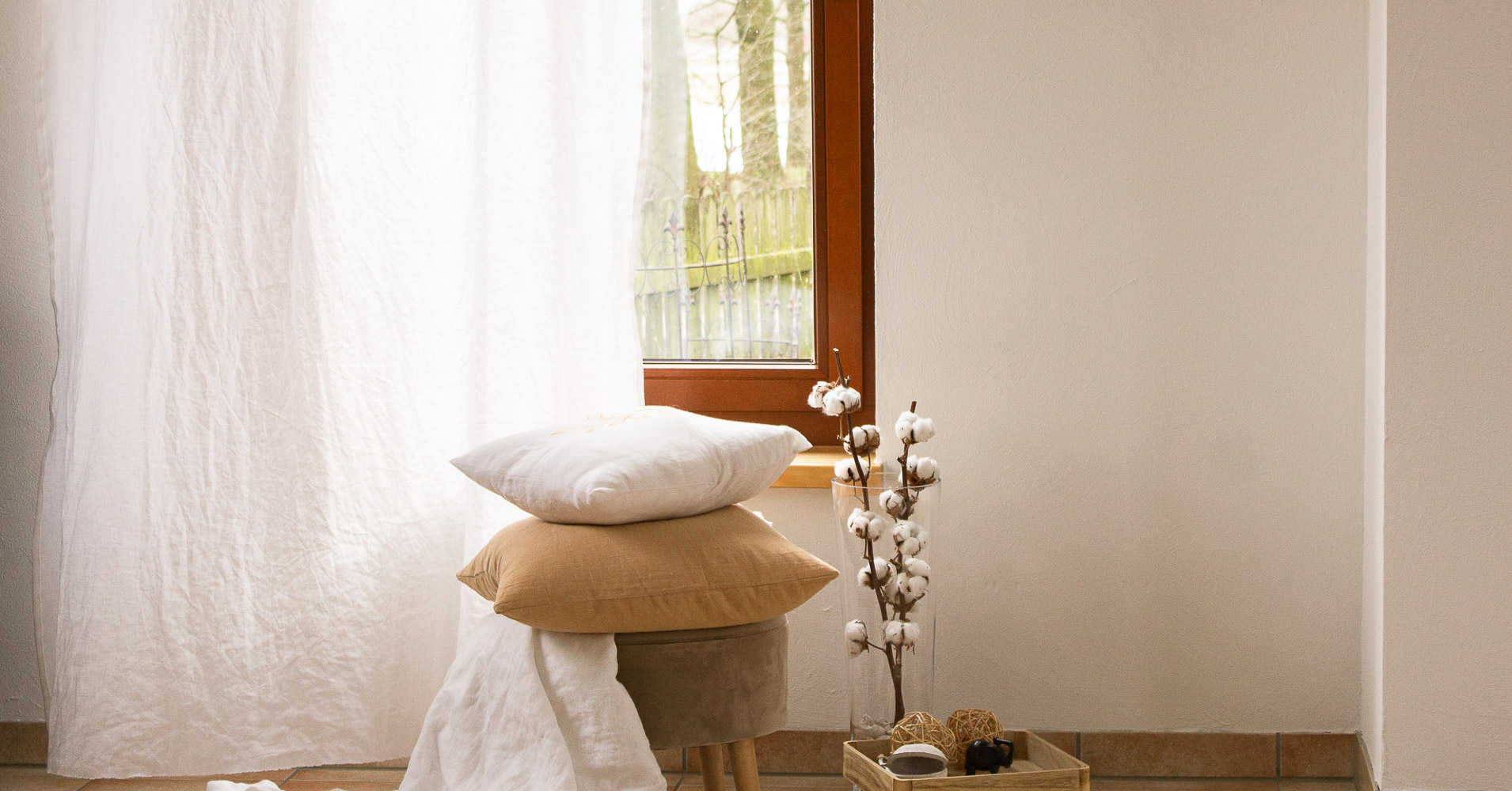 Home-Textilien aus reinem Leinen