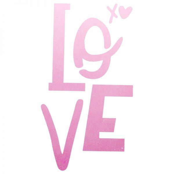 Motivdruck für leinenkissen Love