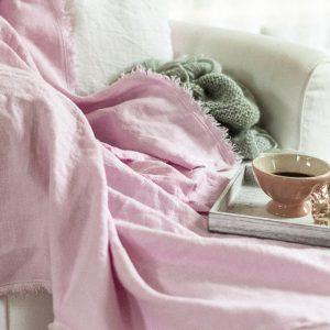 Sofadecken aus Leinen