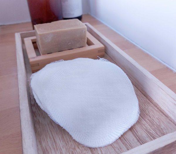 waschbare Abschminkpads aus Leinen