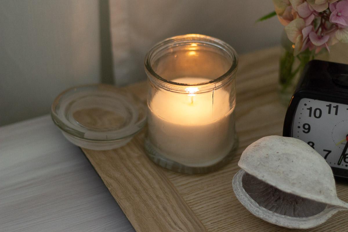 Kerzen für die herbstliche Deko